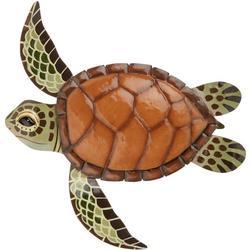 Sea Turtle Metal Wall Art - 15x14