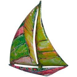 Sail Boat Metal Wall Art