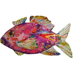 Leoma Lovegrove Pinky Fish Metal Wall Art