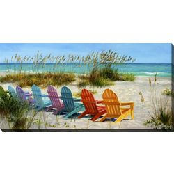 Streamline Art Beach Chair Wall Art