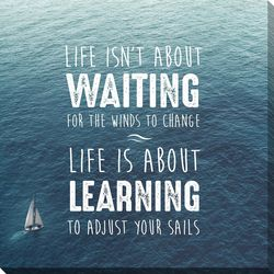 Streamline Art Life Is About Learning Canvas Wall Art