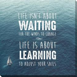 Life Is About Learning Canvas Wall Art