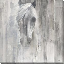 Streamline Art Shadow Horse Canvas Wall Art