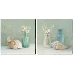 2-pc. Lily of the Valley Canvas Wall Art Set