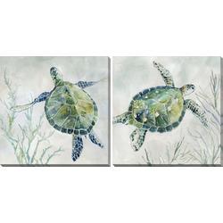 2-pc. Sea Grass Sea Turtle Canvas Wall Art