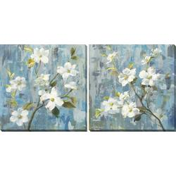 2-pc. Graceful Floral Canvas Wall Art