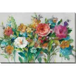 Streamline Art Country Floral Canvas Wall Art