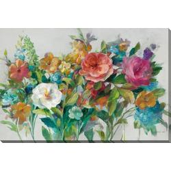 Country Floral Canvas Wall Art