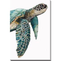Streamline Art Great Sea Turtle Canvas Wall Art