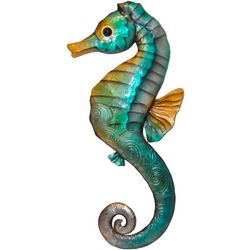 Coastal Home Natural Seahorse Capiz Wall Decor