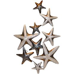 Coastal Home Natural Multi Starfish Capiz Wall Decor