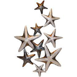 Natural Multi Starfish Capiz Wall Decor