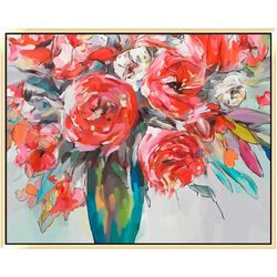 Patton Scarlet Bouquet Canvas Wall Art