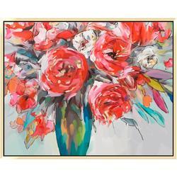 Scarlet Bouquet Canvas Wall Art