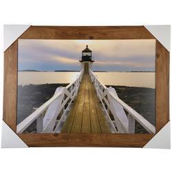 Lighthouse Pier Framed Art