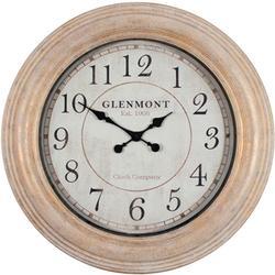 24'' Distressed Round Clock