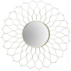 Wire Flower Petal Mirror