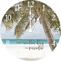 Palm Paradise Wall Clock