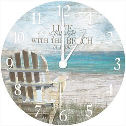 Beach In Sight Wall Clock