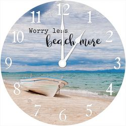 Young's Worry Less Beach More Wall Clock