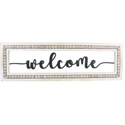 Young's Welcome Bead Accent Wall Sign
