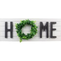 Young's Home Wreath Wall Sign