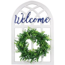 Young's Welcome Wreath Wall Sign