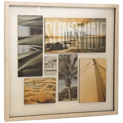 Stylecraft Coastal Collage Framed Art