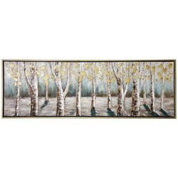 StyleCraft Metallic Trees Canvas Wall Art