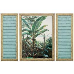 StyleCraft 3-pc. Palm Beach Window Wall Art