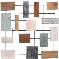 StyleCraft Metal and Wood Wall Sculpture