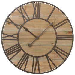 Melrose Rustic Wooden Clock