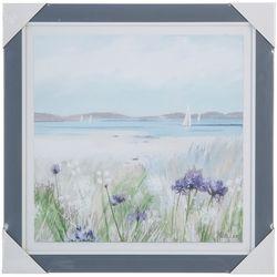 Melrose Watercolor Ocean Framed Wall Art