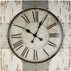 Melrose 46'' Distressed Wood Clock
