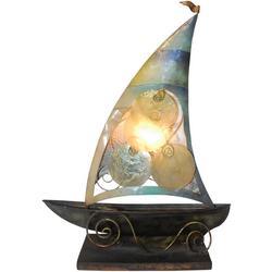 Sailboat Capiz Table Lamp