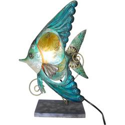 Tropical Fish Swirl Capiz Table Lamp