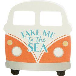 P. Graham Dunn Take Me To The Sea Block Sign