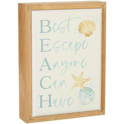 Beach Escape Wood Sign