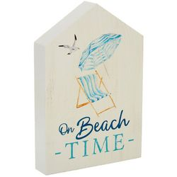 P. Graham Dunn On Beach Time Block Sign