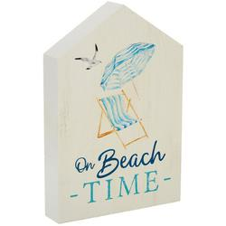 On Beach Time Block Sign - 5x8