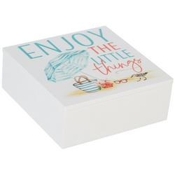 Enjoy The Little Things Wooden Trinket Box