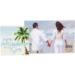 You & Me By The Sea Photo Frame Block
