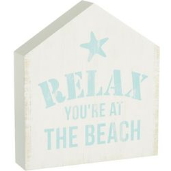 P. Graham Dunn Relax You're At The Beach Block Sign