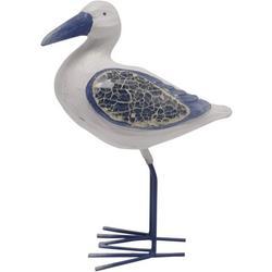 Sandy Blues Mosaic Shore Bird Figurine