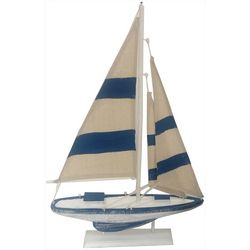 Fancy That Wooden Sailboat Tabletop Decor