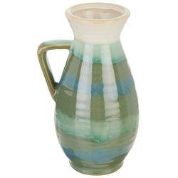 Coastal Home Ceramic Ombre Decorative Pitcher