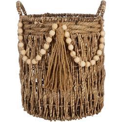 Large Beaded Basket