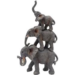 Triple Stacked Elephant Decor