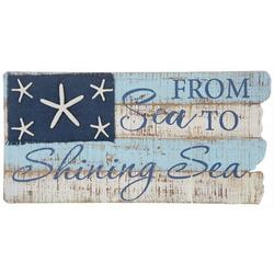 From Sea To Shining Sea Wall Sign - 23x12