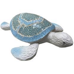 Large Mosaic Sea Turtle Figurine
